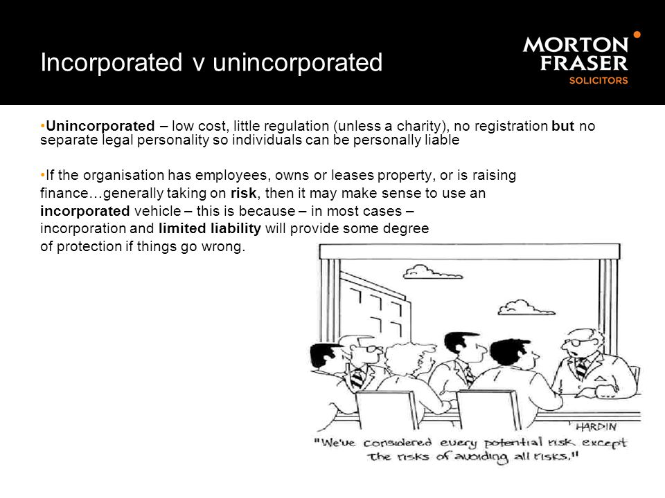 Incorporated v unincorporated
