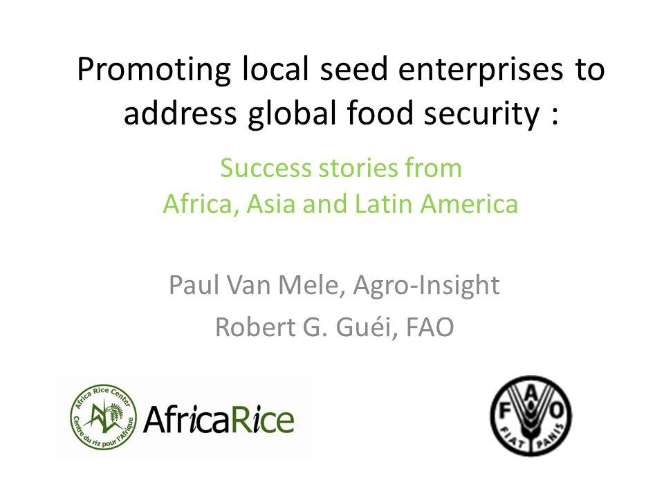 Paul Van Mele, Agro-Insight Robert G. Guéi, FAO