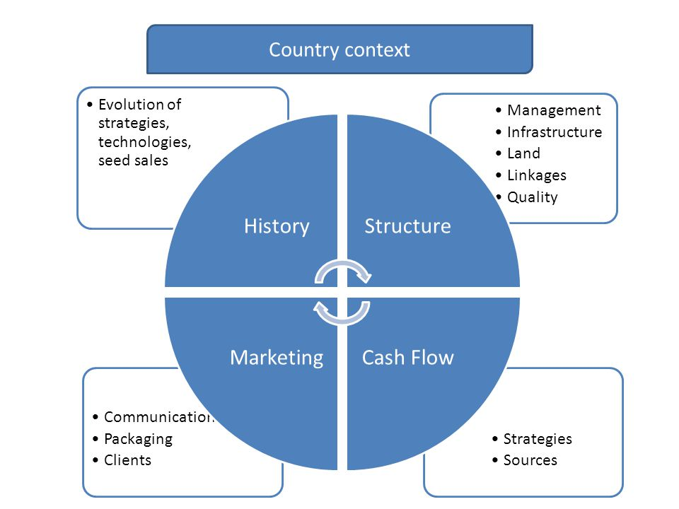 Country context Evolution of strategies, technologies, seed sales