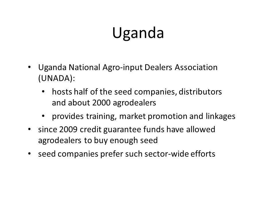 Uganda Uganda National Agro-input Dealers Association (UNADA):