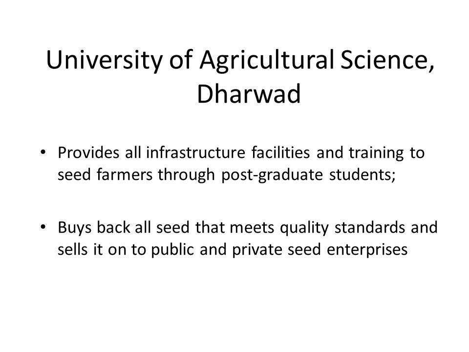 University of Agricultural Science, Dharwad