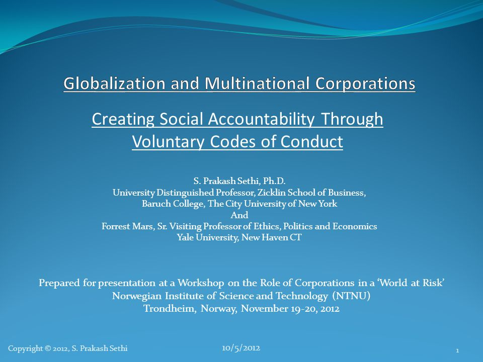 Globalization and Multinational Corporations