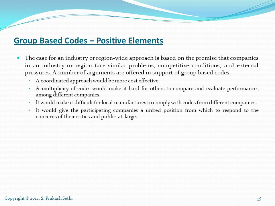 Group Based Codes – Positive Elements