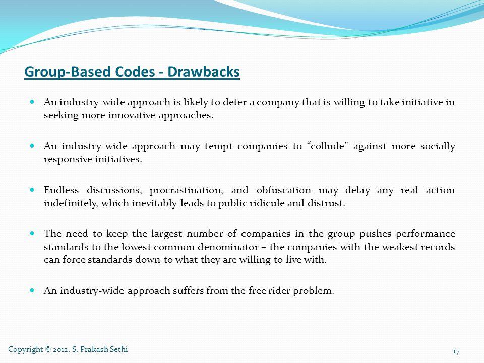 Group-Based Codes - Drawbacks
