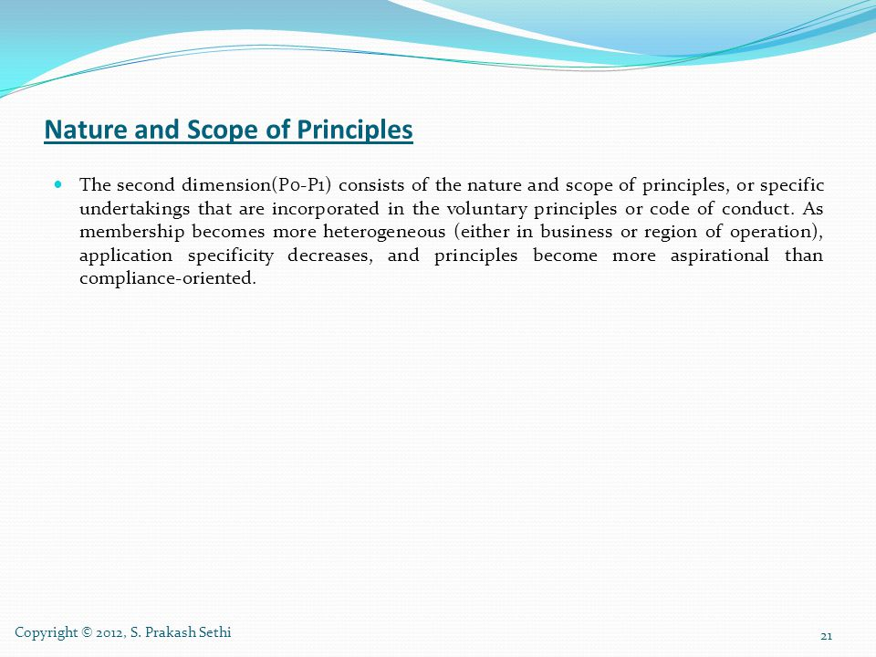 Nature and Scope of Principles