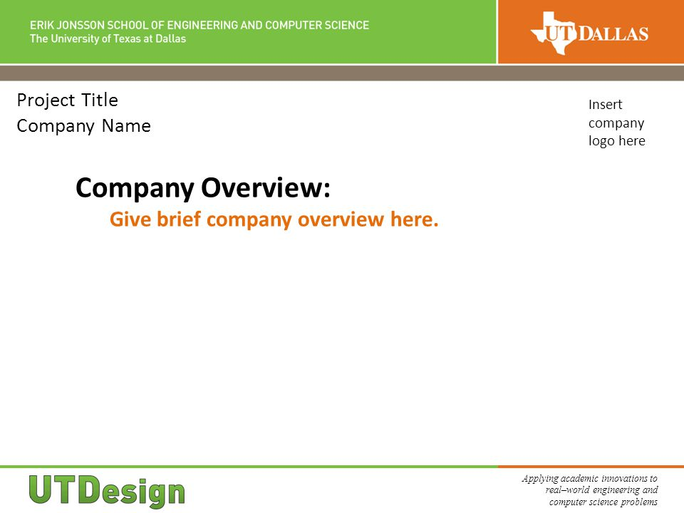 Project Title Company Name