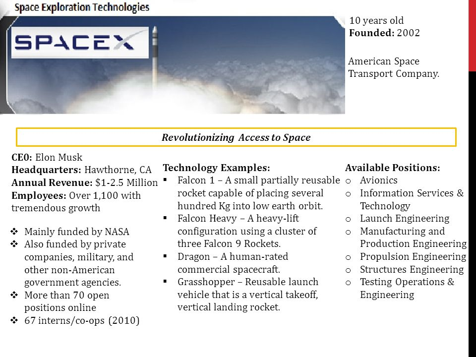 Revolutionizing Access to Space