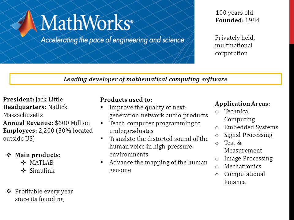 Leading developer of mathematical computing software