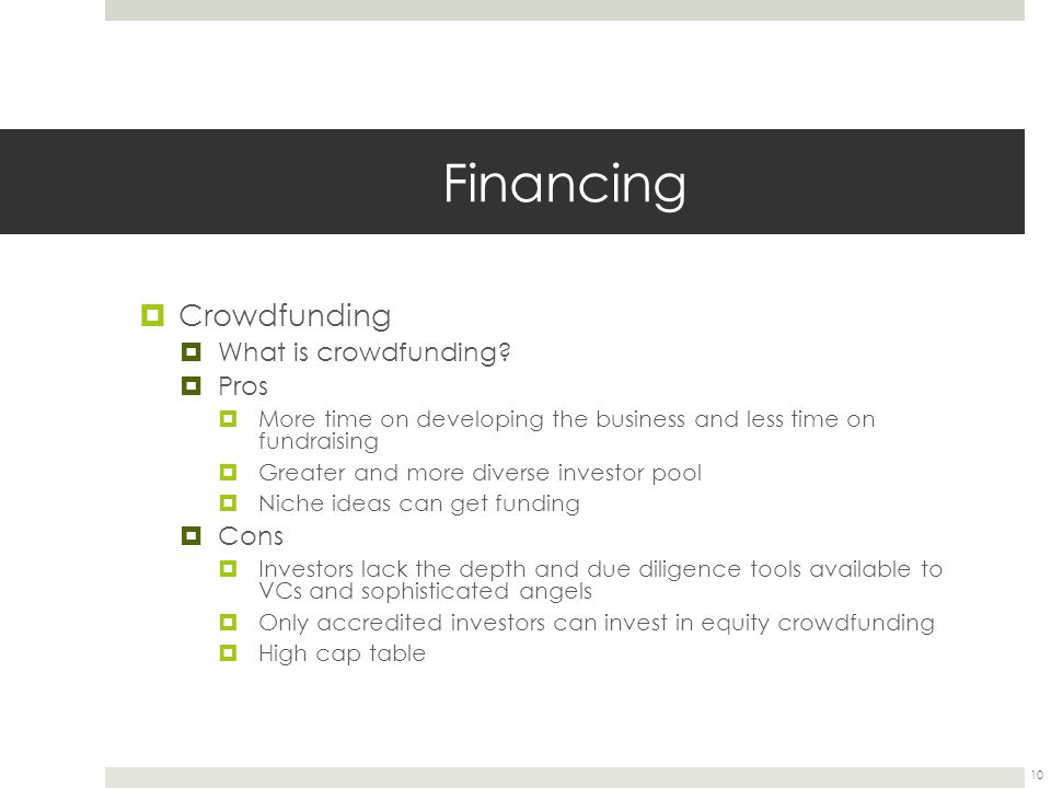 Financing Crowdfunding What is crowdfunding Pros Cons