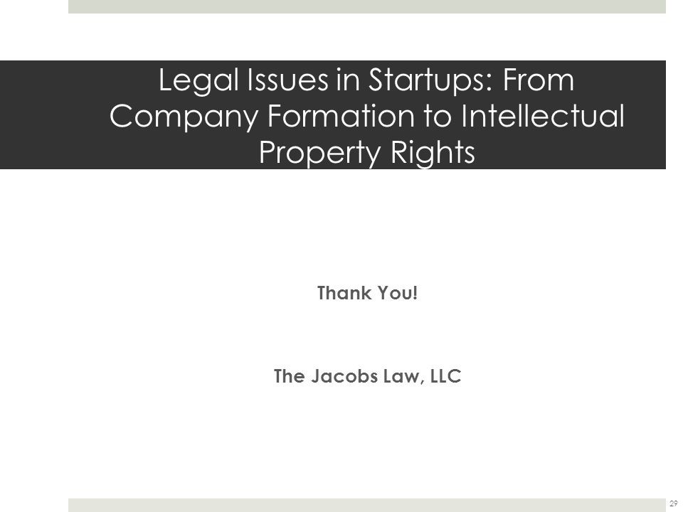 Thank You! The Jacobs Law, LLC