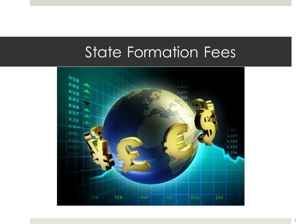 State Formation Fees