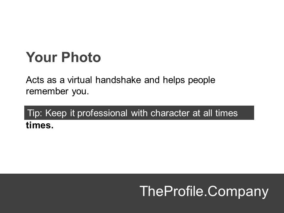 Your Photo TheProfile.Company