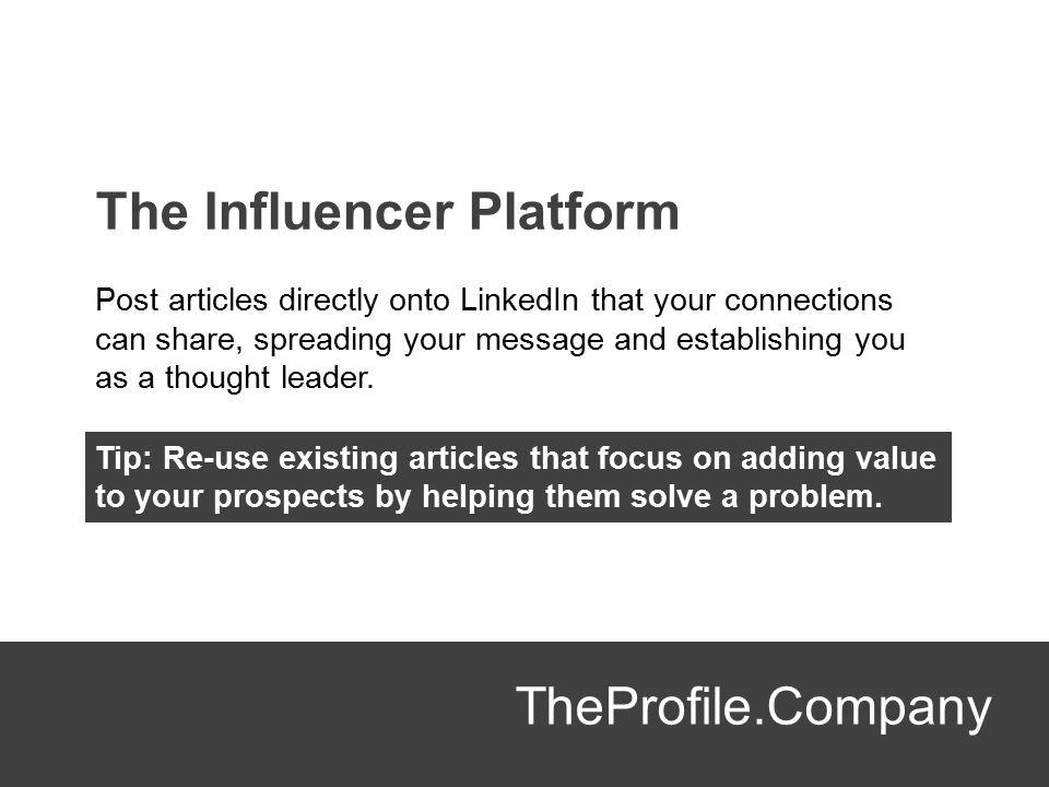 The Influencer Platform