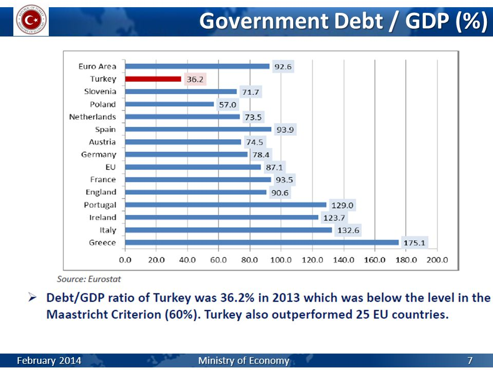 Government Debt / GDP (%)