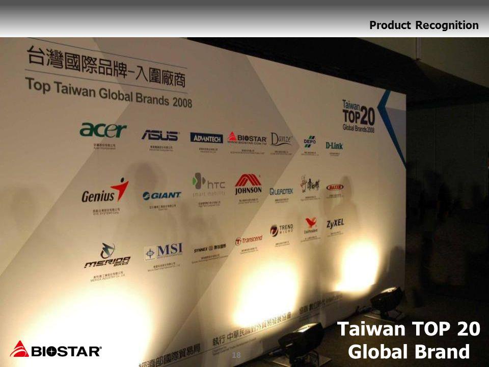 Taiwan TOP 20 Global Brand