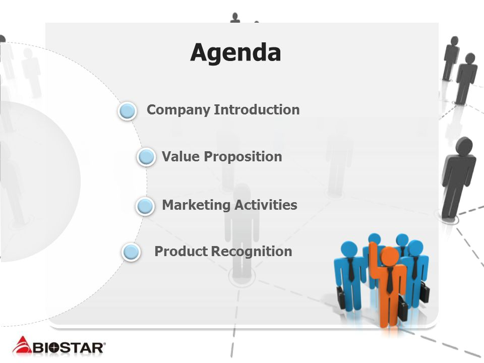 Agenda Company Introduction Value Proposition Marketing Activities