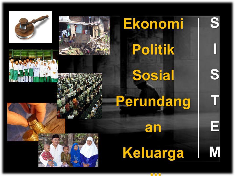 Ekonomi Politik Sosial Perundangan Keluarga dll S I T E M