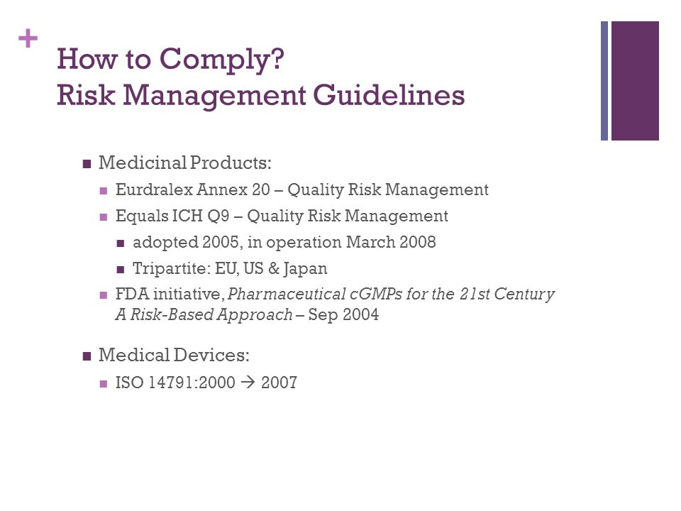 How to Comply Risk Management Guidelines