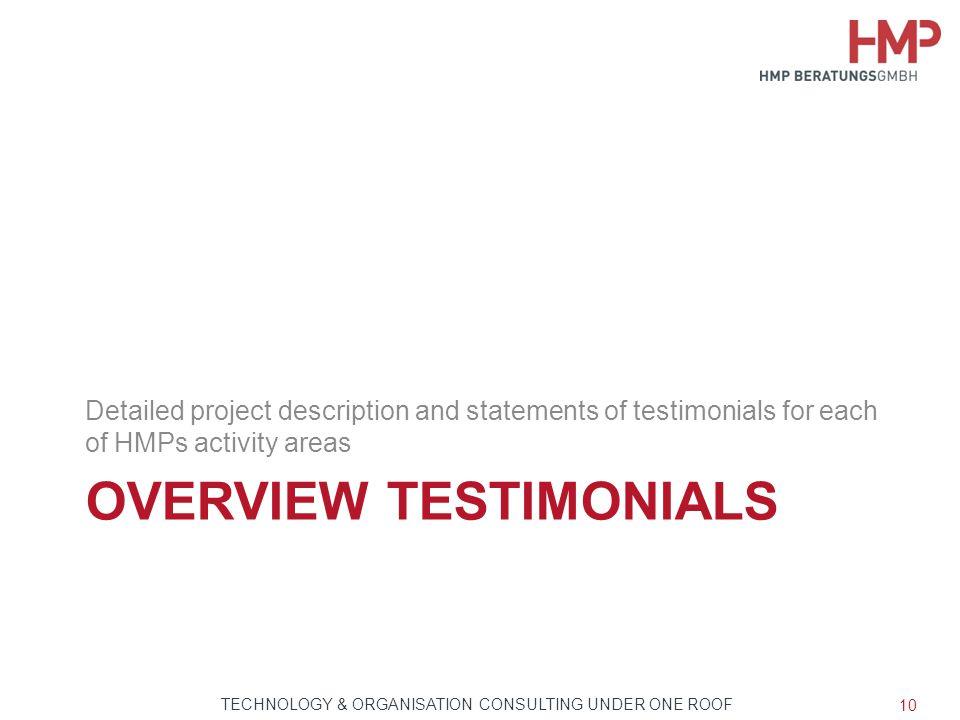 Overview Testimonials
