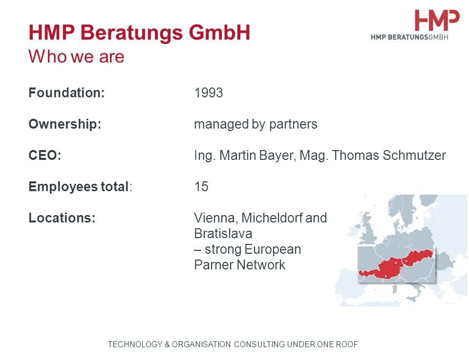 HMP Beratungs GmbH Who we are
