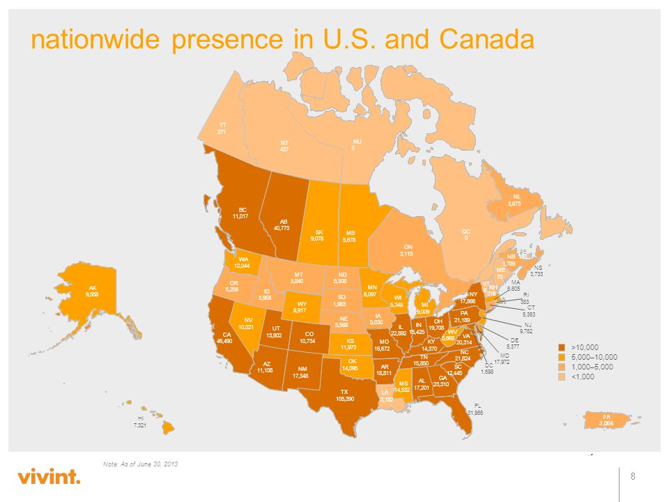 nationwide presence in U.S. and Canada