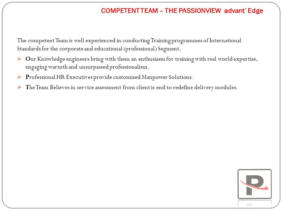 COMPETENT TEAM – THE PASSIONVIEW advant' Edge