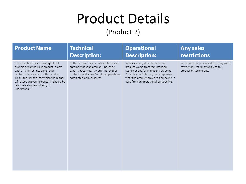 Product Details (Product 2)