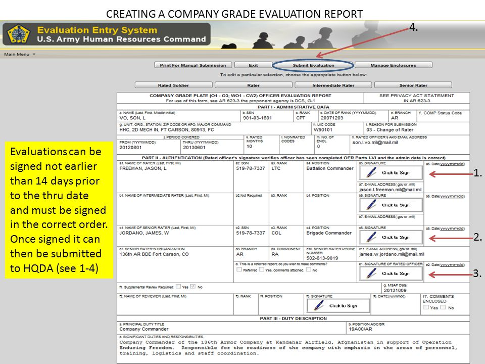 CREATING A COMPANY GRADE EVALUATION REPORT 4.