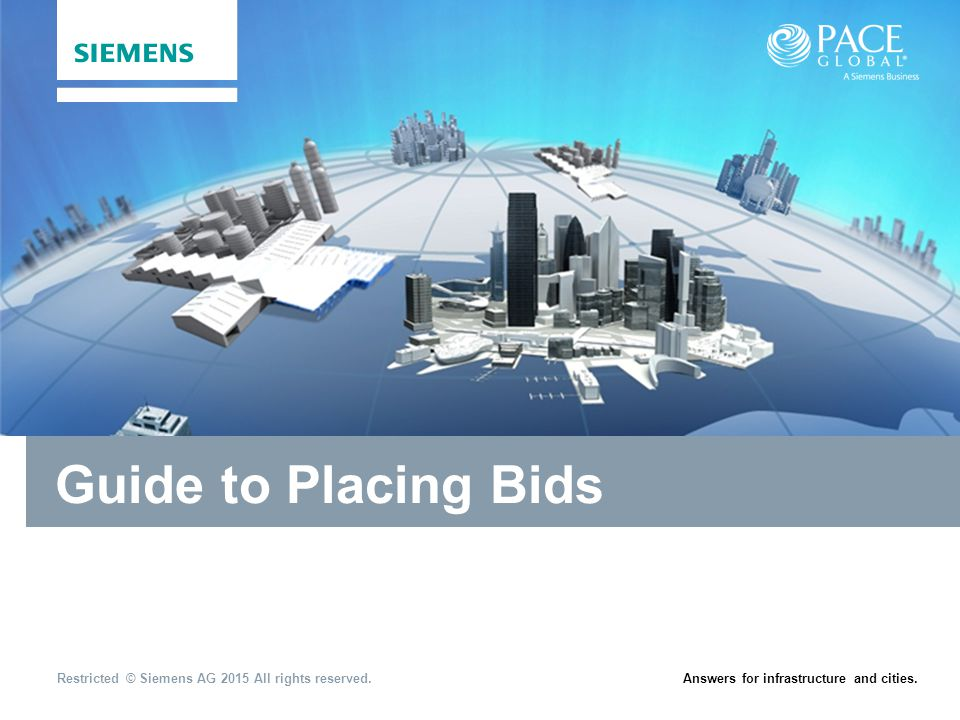 Guide to Placing Bids