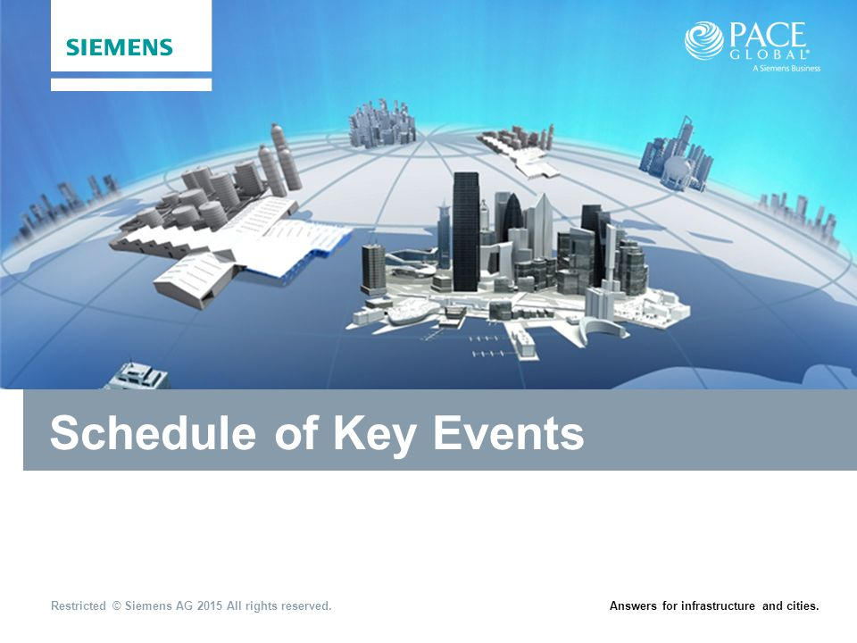 Schedule of Key Events