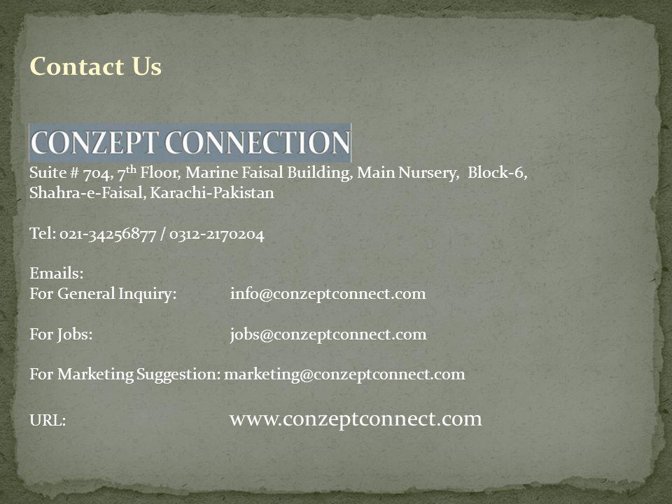 Contact Us Karachi Office: