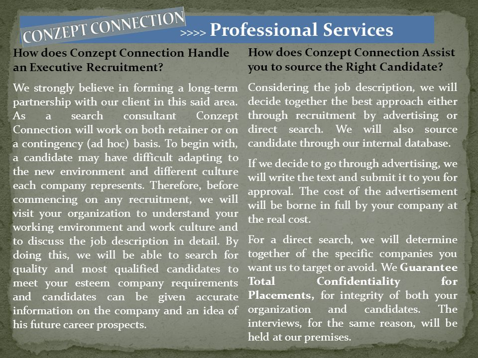 >>>> Professional Services