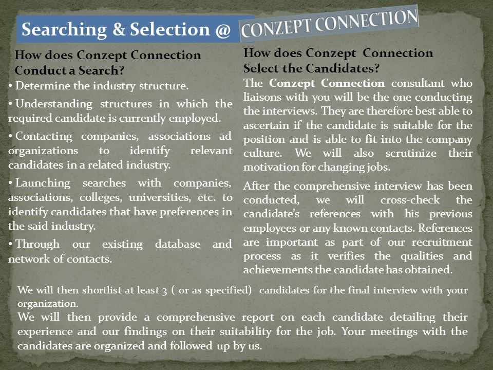 Searching & Selection @