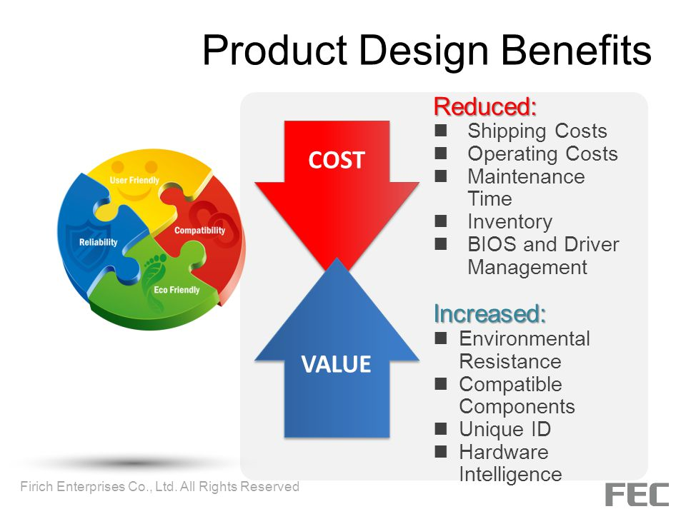 Product Design Benefits