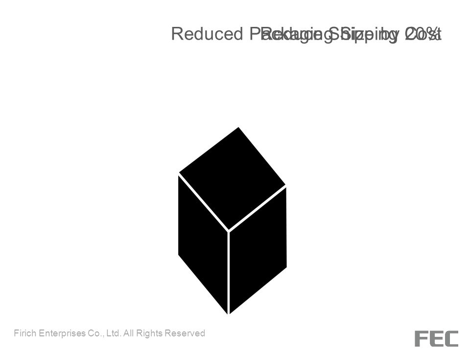 Reduced Packaging Size by 20% Reduce Shipping Cost