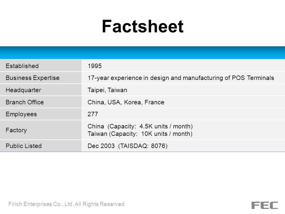 Factsheet Established 1995 Business Expertise