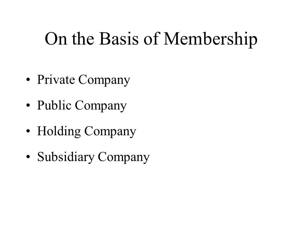 On the Basis of Membership