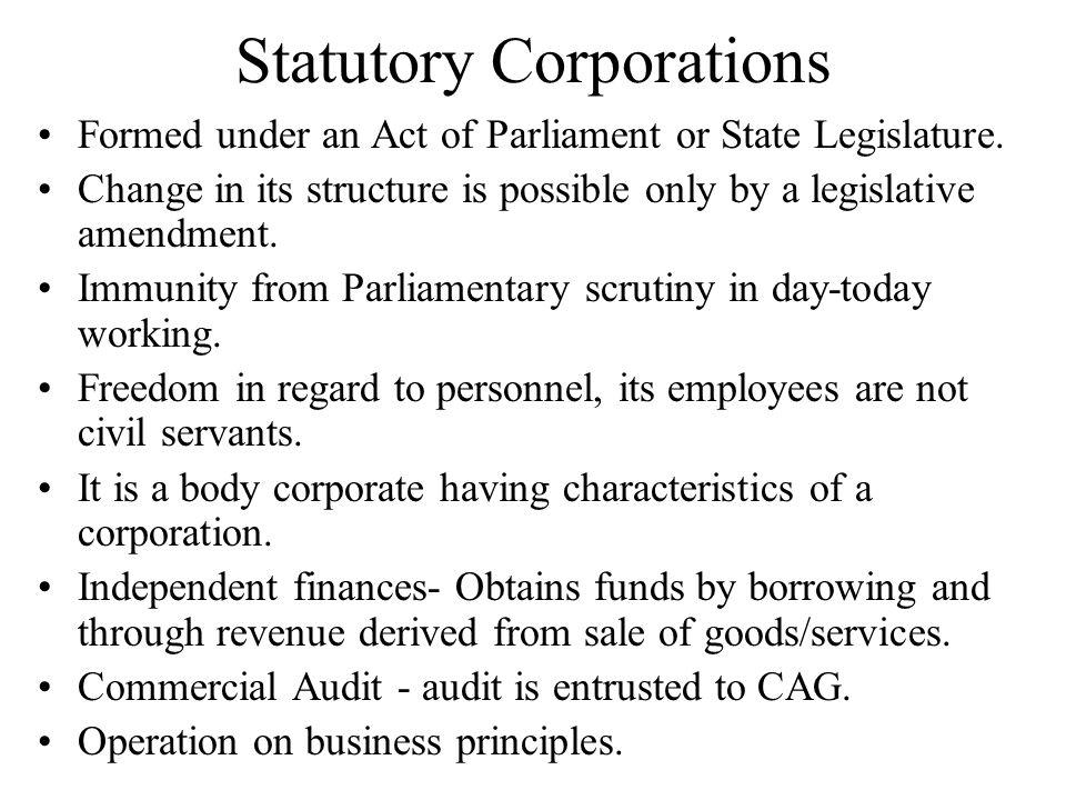 Statutory Corporations