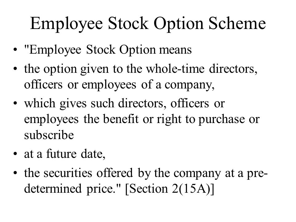 Employee stock options meaning