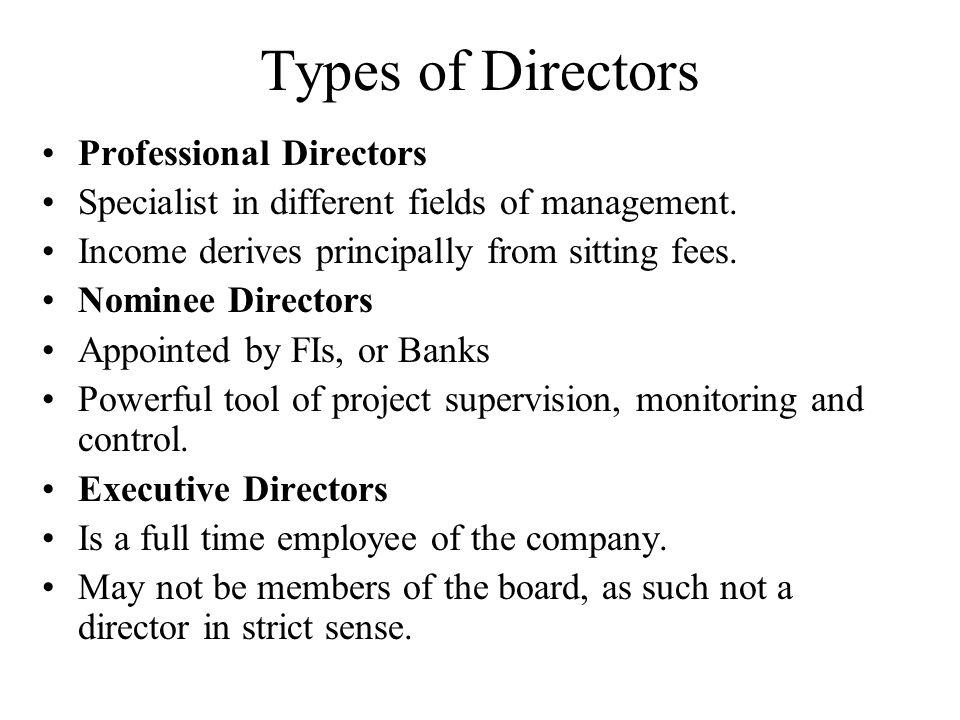 Types of Directors Professional Directors