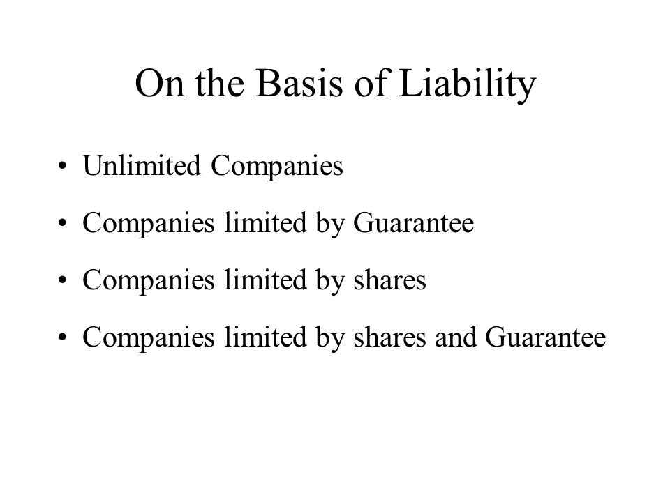 On the Basis of Liability