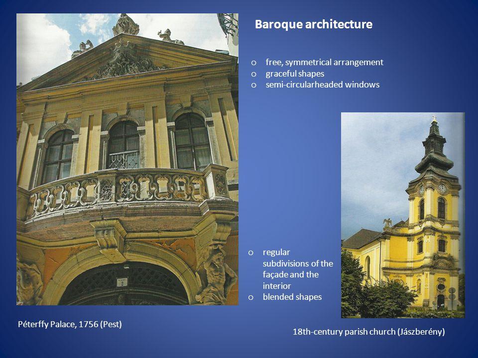 Baroque architecture free, symmetrical arrangement graceful shapes