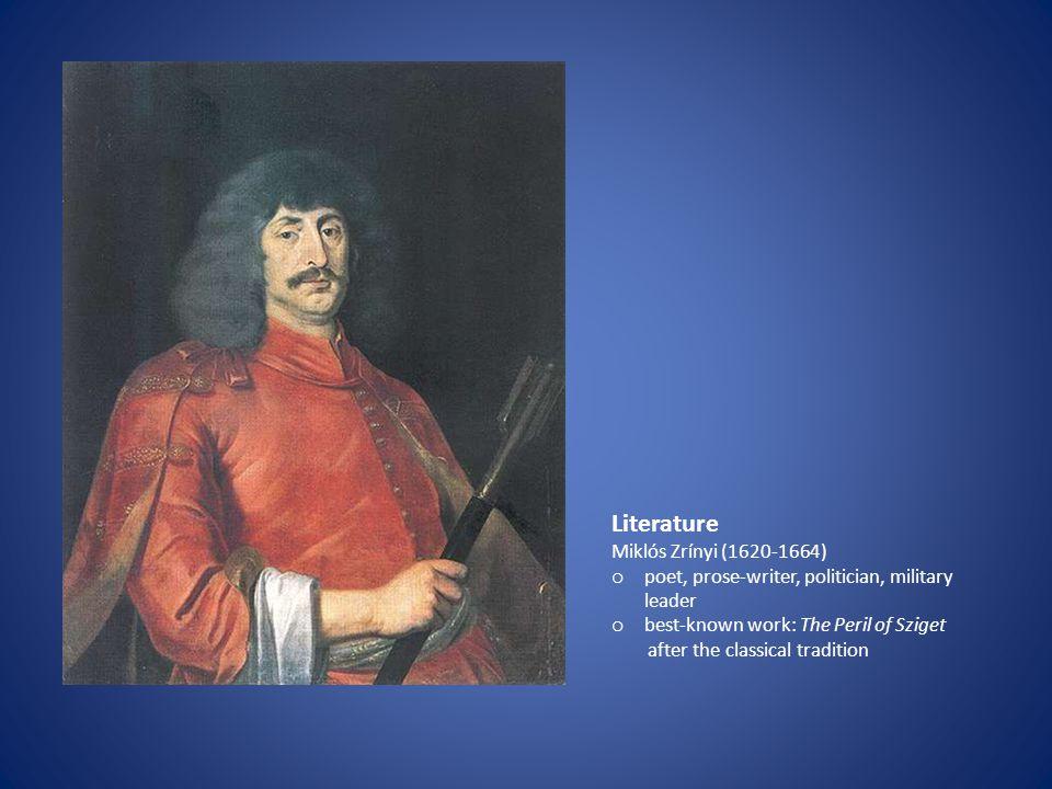 Literature Miklós Zrínyi (1620-1664)