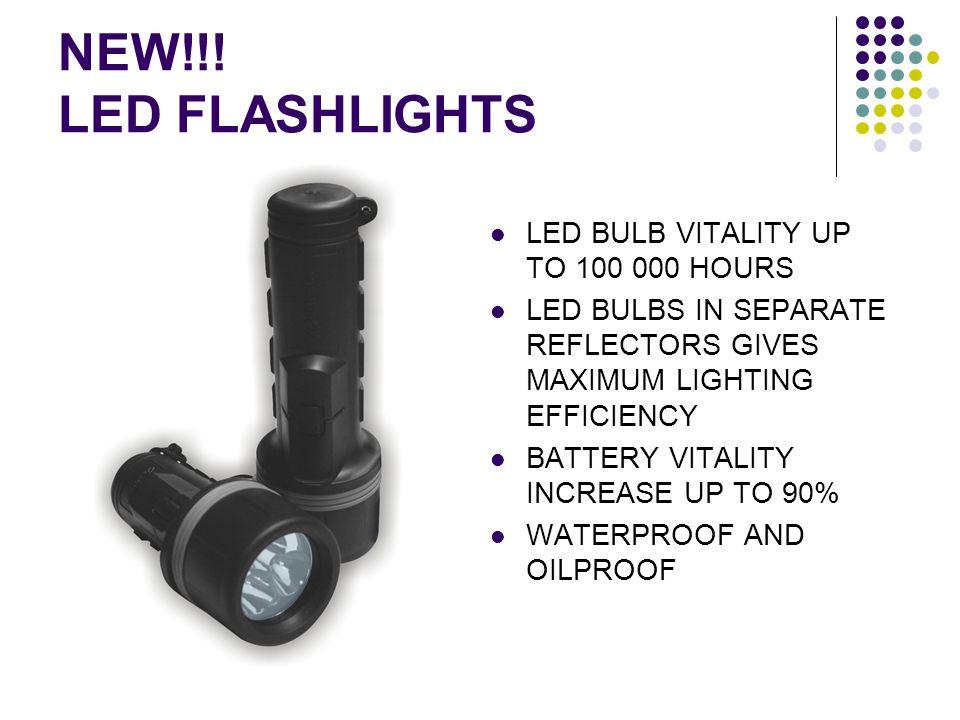 NEW!!! LED FLASHLIGHTS LED BULB VITALITY UP TO 100 000 HOURS