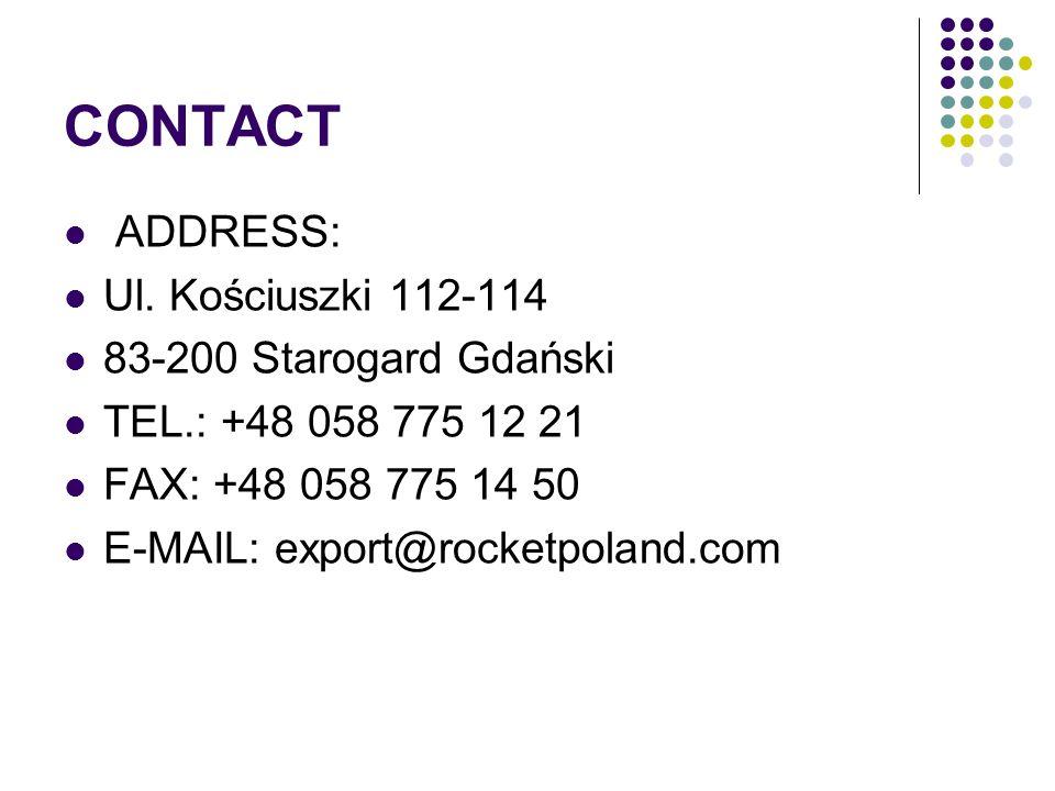 CONTACT ADDRESS: Ul. Kościuszki 112-114 83-200 Starogard Gdański