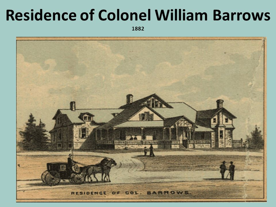 Residence of Colonel William Barrows 1882