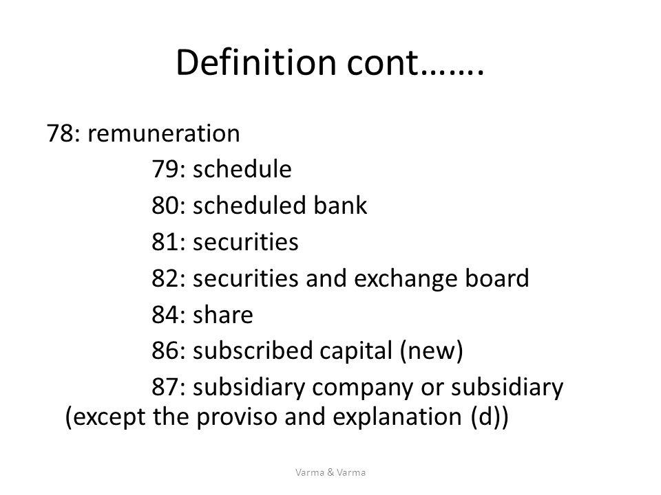 Definition cont…….