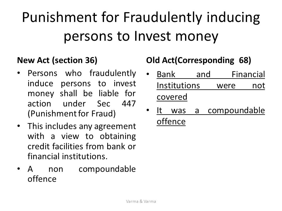 Punishment for Fraudulently inducing persons to Invest money