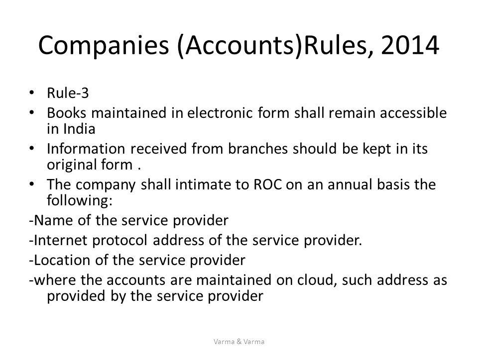 Companies (Accounts)Rules, 2014
