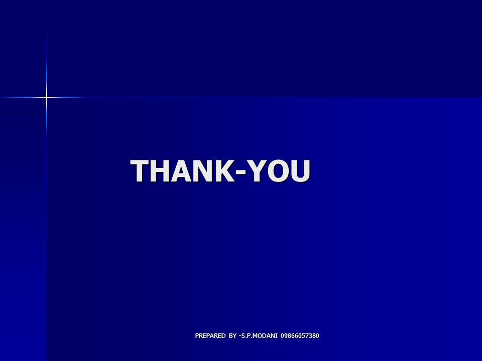 THANK-YOU PREPARED BY -S.P.MODANI 09866057380